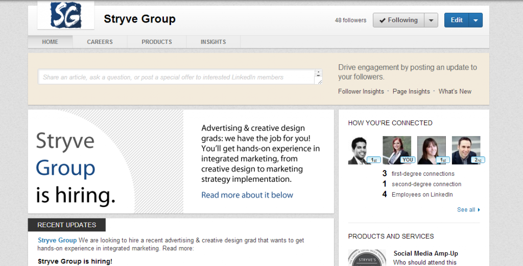 Company Page Screenshot