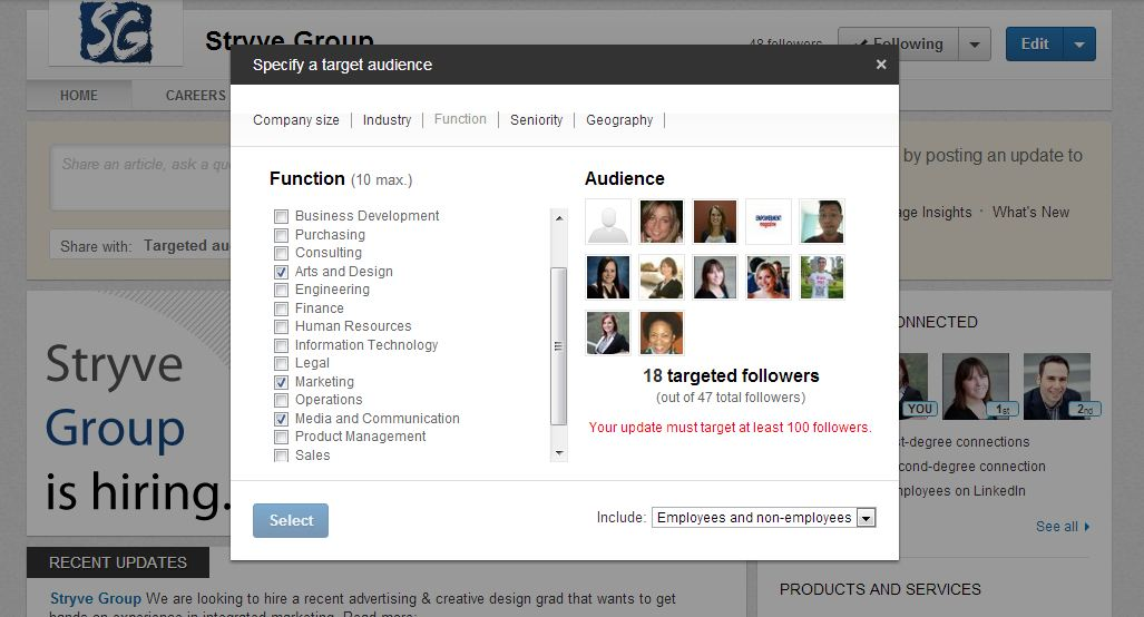 Updated LinkedIn Company Pages - Stryve Digital Marketing