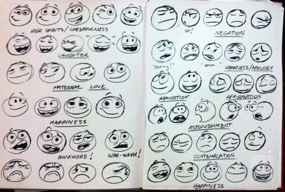 Facebook Emoticon Sketches