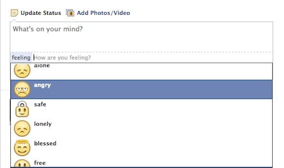 Facebook Emoticon Status