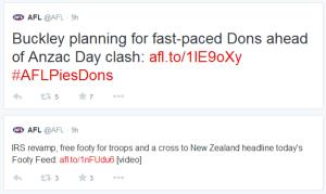 AFL best tweets